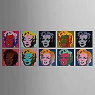 Skrive Marilyn Monroe med utstrakte ramme Sett med 10
