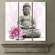 Canvastaulu Art Lotus Ja Buddha Set of 3