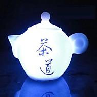7色の急須coway常夜灯中国茶の芸術を率いて