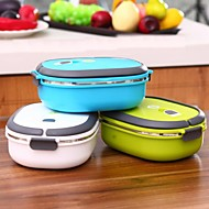 Stainless Steel Sealed Thermal Insulation Lunch Box,Color Random21x15x6.5cm