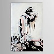 IARTS®Hand Painted Oil Painting People Naked Girl with Long Hair with Stretched Frame