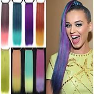 eccellente qualità sintetico 24 pollici lungo rettilineo gradiente nastro coda di cavallo parrucchino - 8 colori disponibili