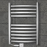 90W Towel Warmer Stainless Steel Mirror Polished Drying Rack Wall Mount