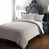 huani® 3 stuk - moderne minimalistische overlappende rooster (200 thread count) dekbedovertrek set