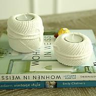 """4 """"Moderne enkel stil bold af uld Design Keramisk Candle Holder"""
