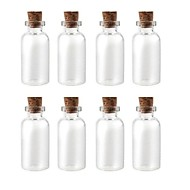 "0.87"" x0.87"" Glass Made Wish Bottle with Cork, 10 pcs"