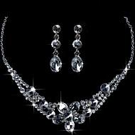 Legering med Elegant Rhinestone och Crystal Bröllop Smycken Set inklusive halsband och örhängen