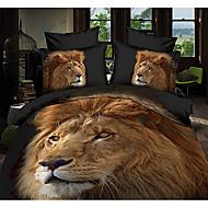 ailianna 4 pièce 3d lion impression couette