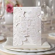 """Unpersonalisierte Fensterfalz Hochzeits-Einladungen Einladungskarten Geblühmter Style Kartonpapier 5 """"x 7 ¼"""" (12,7 * 18,4cm)"""