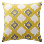 artísticas losango amarelo sobrepostas treliça lona de algodão almofadas decorativas