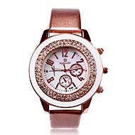 weißes Zifferblatt Edelstahl PU-Band Analog gravierte Uhr personalisiertes Geschenk, Frauen
