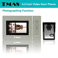 "TMAX® 4.3"" LCD Photograph Video Door Phone Doorbell Home Entry Intercom with 500TVL Night Vision Camera"