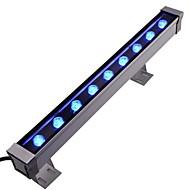 9pcs הוביל מתח גבוה הוביל בחוץ 9W ac85-265V מכונת הכביסה אור קיר הכחול
