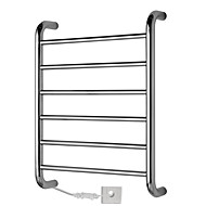 60W Towel Warmer Stainless Steel Mirror Polished Drying Rack Wall Mount