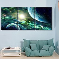 Stretched Canvas Art The Mysterious Sky  Set of 3