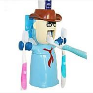 אוהב את מתקן בעל לוחם לסחוט רב-תכליתי מברשת שיניים משחת שיניים, פלסטיק להגדיר 3 יח 'צבע אקראי
