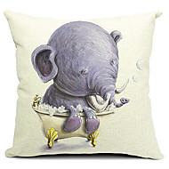 tecknad elefant bebis bomull / linne dekorativa örngott