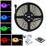 5M 75W 300x5050 SMD LED DC12V IP68 Waterproof Strip Light + Remote Control RGB
