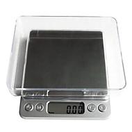 lcd digital de cozinha eletrônico peso escala de alimentos balance1000g / 0.1g, 12.7x10.6x1.9cm plástico