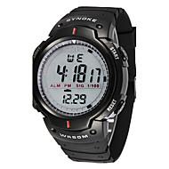 Hommes Montre de Sport Montre Bracelet Numérique LED LCD Calendrier Chronographe Etanche penggera Chronomètre Caoutchouc Bande Cool Noir
