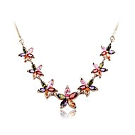 Women's Cubic Zirconia/Brass/Vermeil Necklace Wedding/Daily Cubic Zirconia