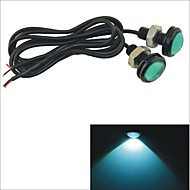 Carking™ 12V 1.5W 23MM Auto Car Eagle Eye Green Rear LED Light Day Time Running Lamp-Green Lens