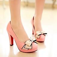 kvinners sko rund tå stiletto hæl hæler med bowknot sko flere farger tilgjengelige