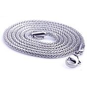 Kædehalskæde Slange Smykker Titanium Stål Unikt design Mode Personaliseret Sølv Smykker For Daglig Afslappet Julegaver 1 Stk.
