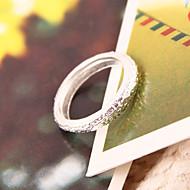 Ženska Korejski modni slatko krug mat prsten r522