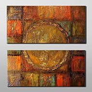 Hand-Painted Abstract Horizontal,Classic Traditional Two Panels Canvas Oil Painting For Home Decoration