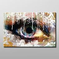 Ručno oslikana Sažetak Jedna ploha Platno Hang oslikana uljanim bojama For Početna Dekoracija