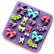 Bowknot Shaped Baking Fondant Cake Choclate Candy Mold,L7.3cm*W7.3cm*H0.9cm