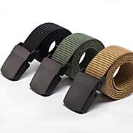 Rockway® Outdoors Men POM Buckle Nylon Black Military Belt