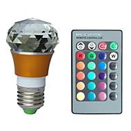 jiawen® e27 3w rgb 16 cores cristal lâmpada LED com controle remoto (ac 100-220V)