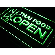 j705 thai étel nyitott kávézó étterem neon fény jel