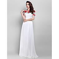 Prom / Formal Evening / Military Ball Dress - Plus Size / Petite Sheath/Column Jewel Floor-length Chiffon