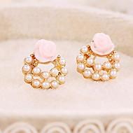 New Star Lovely Elegant Pearl Earring Roses