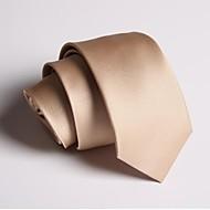 Cravate Soirée / Travail / Décontracté Polyester,Homme Couleur Pleine Toutes les Saisons