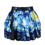 Women's Multi-color Skirts , Sexy/Casual/Print/Cute/Party Mini