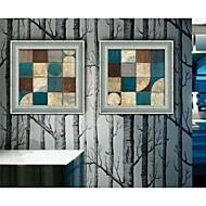 Abstract / Fantasy Framed Canvas / Framed Set Wall Art,PVC Dark Blue No Mat With Frame Wall Art
