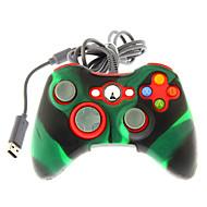 בקר הלם כפול קווי עם כיסוי עור סיליקון עבור Xbox 360