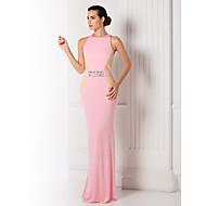 저녁 정장파티/프롬/밀리터리 볼 드레스 - 캔디 핑크 트럼펫/멀메이드 바닥 길이 보석 저지 플러스 사이즈