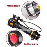 LED Flashlights/Torch Mode 1000 Lumens Adjustable Focus / Rechargeable / Impact Resistant / Nonslip grip / Strike Bezel XM-L2 T6 18650