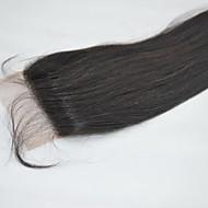 "14 »# 1b πιο σκοτεινές καφέ 4x4"" indian ανθρώπινα μαλλιά δαντέλα hairpiece κλείσιμο φυσικό ευθεία"
