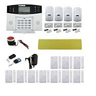 fyrbands-hem inbrottslarm säkerhet larmsystem w / detektorsensor kit / fjärrkontroll