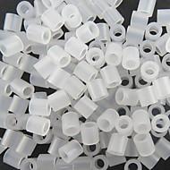 kb 500db 5mm átlátszó Perler gyöngyök biztosíték gyöngyök hama gyöngyök DIY kirakós EVA anyagból Safty gyerekeknek
