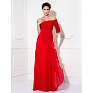 TS Couture® Formal Evening / Prom / Military Ball Dress - Ruby Plus Sizes / Petite Sheath/Column Off-the-shoulder Floor-length Chiffon