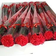 1個ホリデーギフトカーネーション形状の石鹸の花(ランダムカラー)