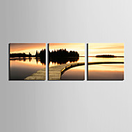 Canvastaulu taide Sunset Waterside Set of 3
