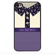 gepersonaliseerde gift luipaard print shirt design metalen behuizing voor de iPhone 4 / 4s